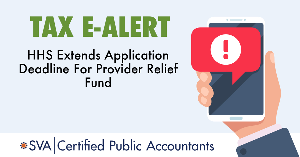 HHS Extends Application Deadline For Provider Relief Fund
